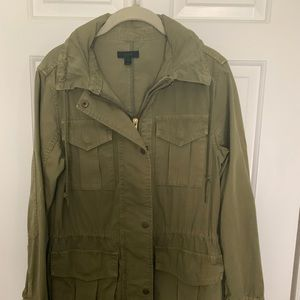J Crew Army Barn Jacket With Hidden Hood S XS